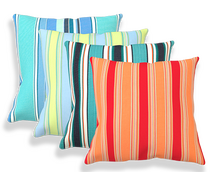 Lumbar Striped Outdoor Pillow