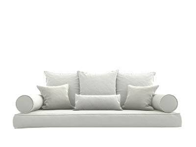 Canvas White Bed Swing Pillows
