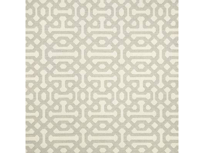 Fretwork Pewter Outdoor Pillow Fabric
