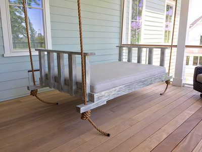 Back Rest Removed on Bed Swing
