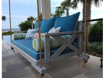 Graywash Bed Swing