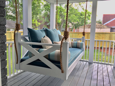 Lowcountry Bed Swing with Pillows