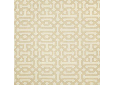 Fretwork Flax Outdoor Pillow Fabric