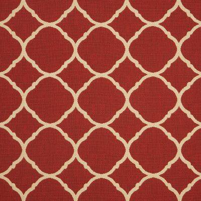 """Approximately 27"""" x 27"""" Shown of Accord-II-Crimson"""